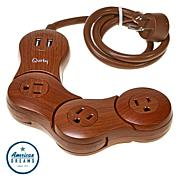 Quirky Pivot Power Powerstrip with 2 USB Ports