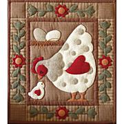 "Rachel of Greenfield Spotty Hen Quilt Kit - 15"" x 13"""