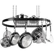 Range Kleen Hanging Oval Pot Rack - Black