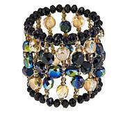 Rara Avis by Iris Apfel Black Beaded Stretch Bracelet