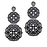 Rara Avis by Iris Apfel Scroll Drop Earrings