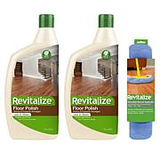 Revitalize 32 oz. Hardwood Floor Polish 2-pack with Bonnet