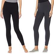 Rhonda Shear 2-pack Fleece Lined Legging