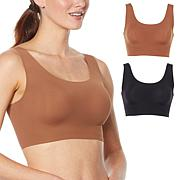 Rhonda Shear 2-pack Skintones Body Bra with Removable Pads