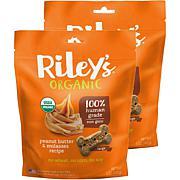 Riley's Organics  Peanut Butter & Molasses Large Bone Dog Treats 2 ...