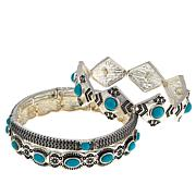 "R.J. Graziano ""Best West"" 3-piece Stretch Bangle Bracelet Set"