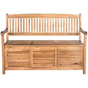 Safavieh Brisbane Storage Bench - Teak Brown Finish