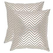 "Safavieh Elle Silvertone Linen Pillows - 22"" x 22"""