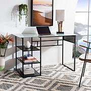 Safavieh Xyla 3-Shelf Glass Top Desk