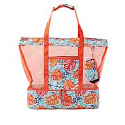 Samantha Brown To-Go Insulated Bottom Mesh Tote