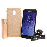 """Samsung Galaxy J3 5"""" Android Smartphone w/Car Charger & Apps"""