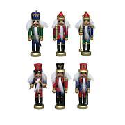 "Santa's Workshop 5"" Assorted Nutcrackers Set of 6"