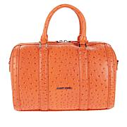 Sassy Jones Dottie Ostrich-Embossed Satchel