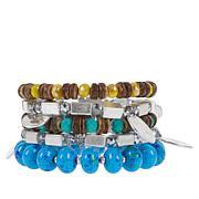Sassy Jones Tezra 5-piece Stretch Bracelet Set