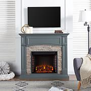 Seneca Media Electric Fireplace - Gray