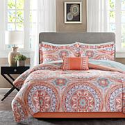 SerenityComplete Bed and Sheet Set- Coral