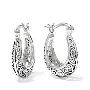 Sevilla Silver™ Filigree Heart Hoop Earrings