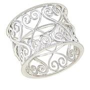Sevilla Silver™ Heart Filigree Band Ring
