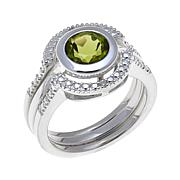 Sevilla Silver™ Peridot 3-piece Ring Set