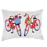 Sewing Down South Dual Bikes Lumbar Pillow