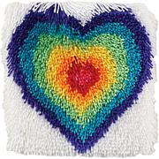 """Shaggy 12"""" x 12"""" Latch Hook Kit  - From The Heart"""