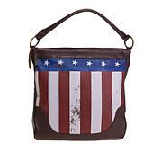 Sheryl Crow Leather Flag Hobo