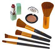 Signature Club A 5-piece Makeup Brush Set with Powder & Lipstick