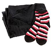 Soft & Cozy Plush Throw and Socks Set