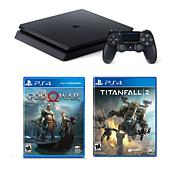 "Sony PlayStation 4 Slim 1TB Console with ""God of War"" and Accessories"
