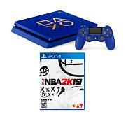 "Sony PlayStation 4 Slim 1TB Days of Play Blue Console with ""NBA 2K19"""