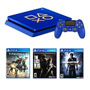 Sony PlayStation 4 Slim Days of Play Console Bundle with 3 Games