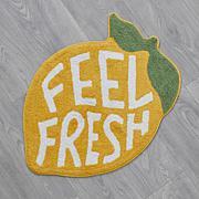 South Street Loft Fresh Lemon 100% Cotton Bath Mat