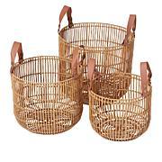 South Street Loft Set of 3 Wicker Baskets