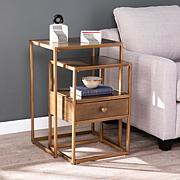 Southern Enterprises Francesca 2-Piece Nesting Nightstand Set