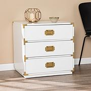 Southern Enterprises Stretha 3-Drawer Campaign Chest - White