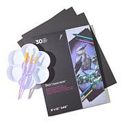 Spectrum Noir Pallet, Paint Brush and Black Paper Pad Set