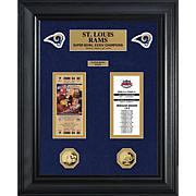 St. Louis Rams Framed Super Bowl Ticket and Coin