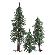 Sterling 2', 3' and 4' Lighted Deluxe Alpine Trees