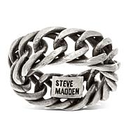 Steve Madden Men's Curb Chain Stainless Steel Band Ring