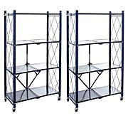 StoreSmith Slim Shelf 5 Tier Rolling Storage Rack