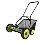 "Sun Joe® 18"" Manual Reel Mower with Grass Catcher"