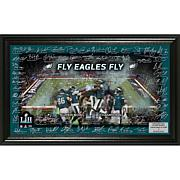 Super Bowl LII Champions Highland Mint Signature Grid Frame - Eagles