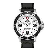 "Swiss Military by Charmex Men's ""Infantry"" Black Leather Strap Watch"