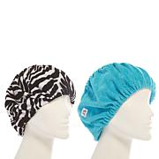 Tassi Hair Holder Duo - Blue/Zebra