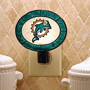 Team Glass Nightlight - Miami Dolphins