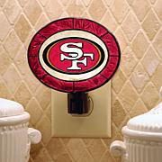 Team Glass Nightlight - San Francisco 49ers