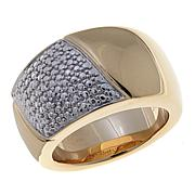 Technibond® Asymmetrical Diamond-Accented Band Ring