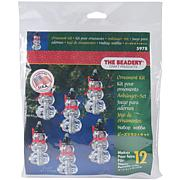 The Beadery Holiday Beaded Ornament Kit - Faceted Elegant Snowmen