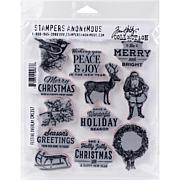 """Tim Holtz Cling Stamps 7"""" x 8.5"""" - Festive Overlay"""