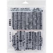 """Tim Holtz Cling Stamps 7"""" x 8.5"""" - Music and Advert"""